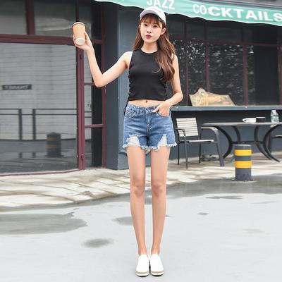 依赖 2018新款韩版潮流时尚牛仔短裤 287#288#