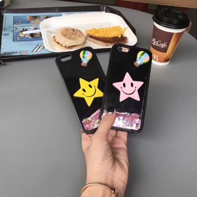 千隆 R11流沙闪粉亮片X9热气球星星笑脸iPhoneX 8plus苹果6S 7手机壳潮