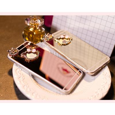 千隆 欧美贵族iPhoneX 7苹果8 6Splus镶水钻镜面手机壳KT猫钻饰保护套