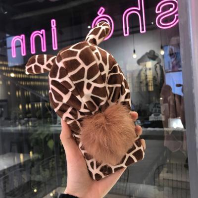 千隆 iPhoneX 8plus保护套苹果6S 7冬日保暖趣味帽子獭兔毛球手机软壳