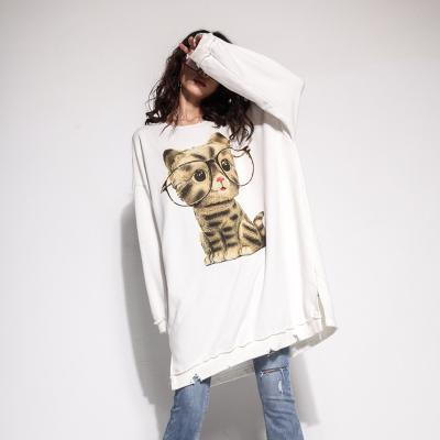 玩加 2018春季新款长款猫咪连衣裙 18111L605