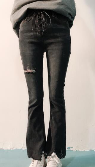 玩加 2018春季新款牛仔喇叭裤18111N502