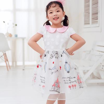 兔力丝 2018新款儿童玻璃沙碎花连衣裙 RR001