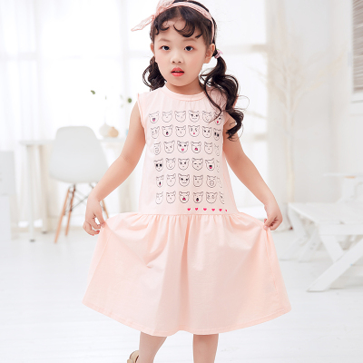 兔力丝 2018新款韩版女童夏装连衣裙 RR015