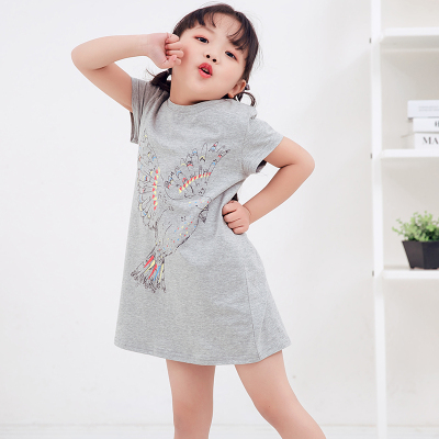 兔力丝 2018新款韩版时尚中长款T恤 RR040