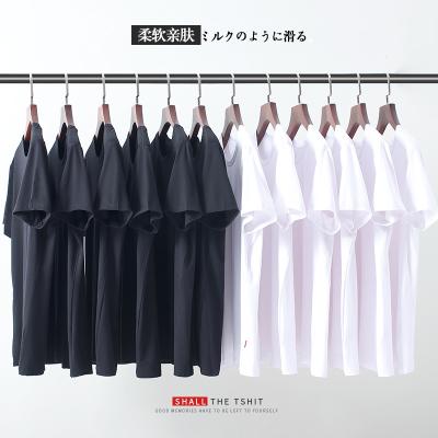 2018年纯色T恤款式上新时尚新款圆领T恤