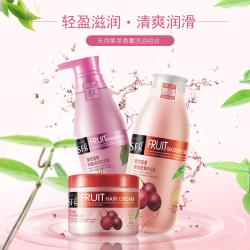圣潞莎 玫瑰果洗发水+ 百香果沐浴露+ 百香果焗油膏