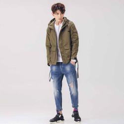 2018新款时尚潮流弹力九分哈伦裤  X8022