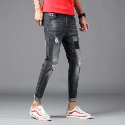 2018新款时尚潮流弹力九分小脚牛仔裤 U1819