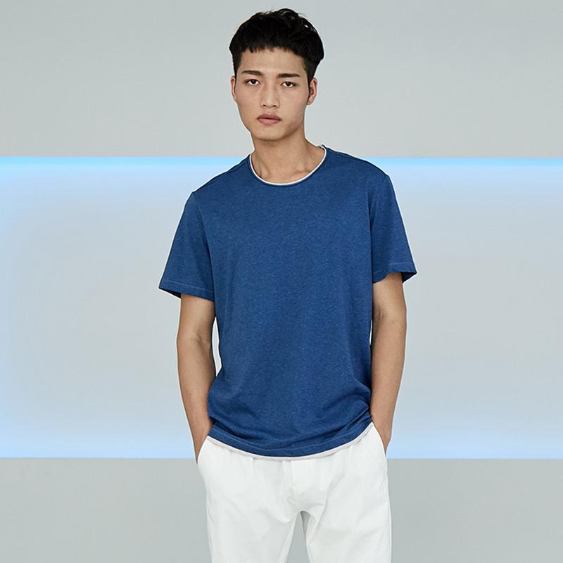简约男装圆领短袖T恤S8X10459...
