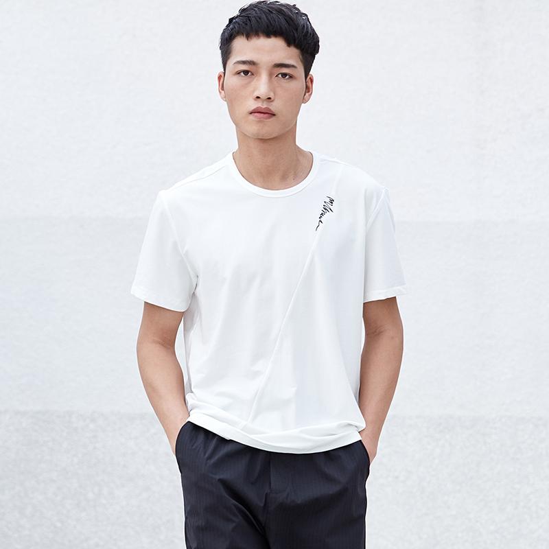 简约男装圆领短袖T恤S8X10429...
