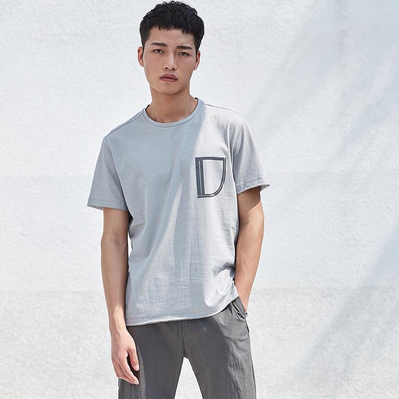 简约男装圆领短袖T恤...