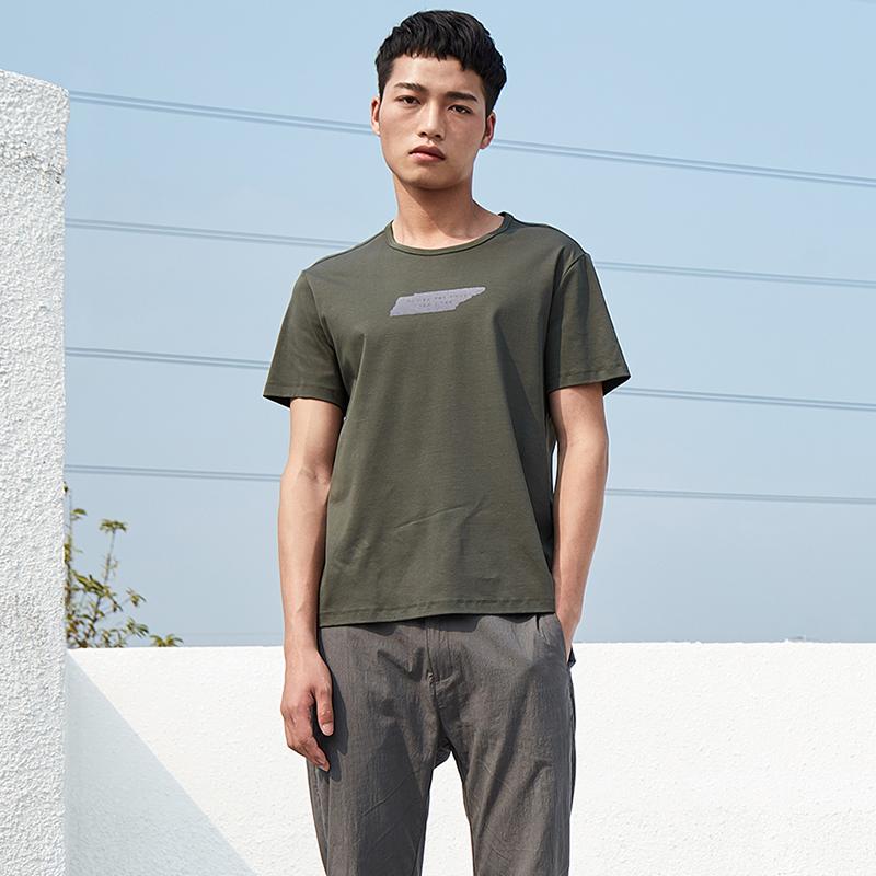 简约男装圆领短袖T恤S8X10479...