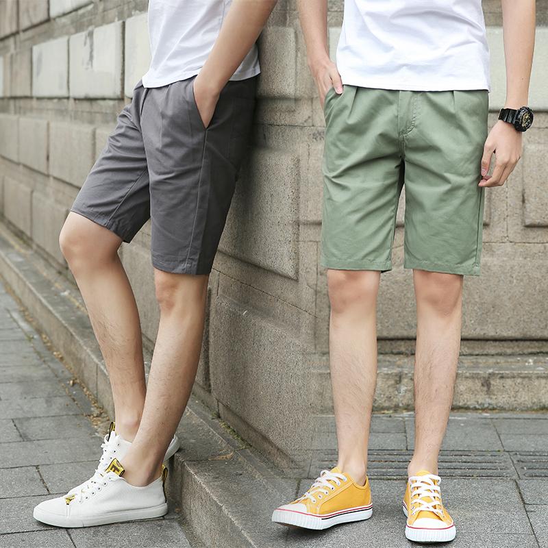 2018夏季韩版时尚新款潮流短裤男...
