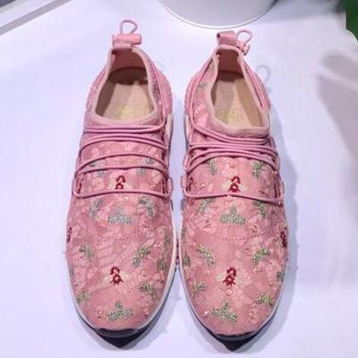 hattie女鞋 新款蕾丝蝴蝶刺绣运动鞋 H180012