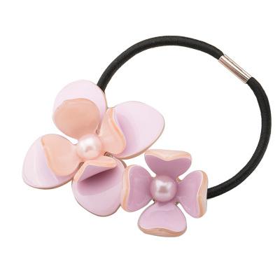 清新可爱多色珍珠花朵发绳-AP50318L89