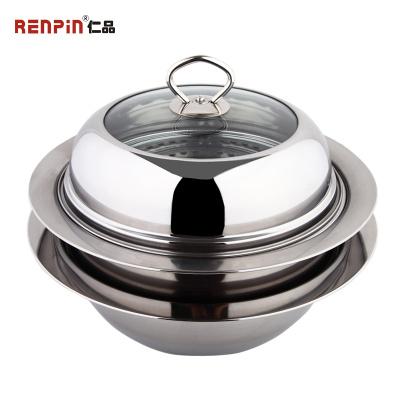 仁品蒸锅不锈钢 2层 多功能家用双层火锅汤锅家用煤气电磁炉通用