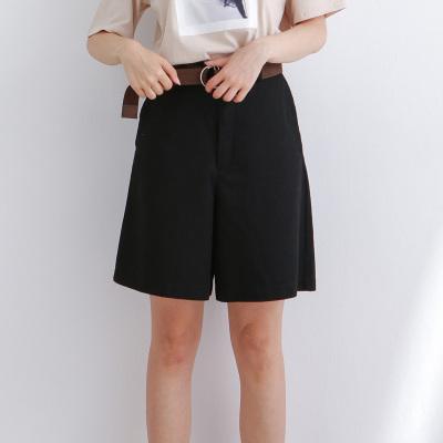 BLISS VALLY  腰带水洗棉中裤 5A0232