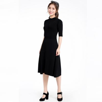 圆领短袖针织连衣裙(Y&M18SSOP007)