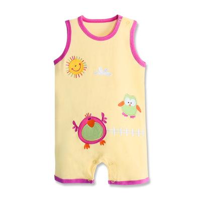 2018夏季新款童装批发 英尼熊婴幼儿卡通平角爬服可爱无袖薄款