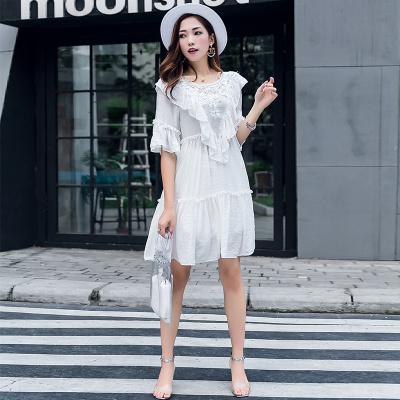ZQY 丝光麻时尚连衣裙 (7025)