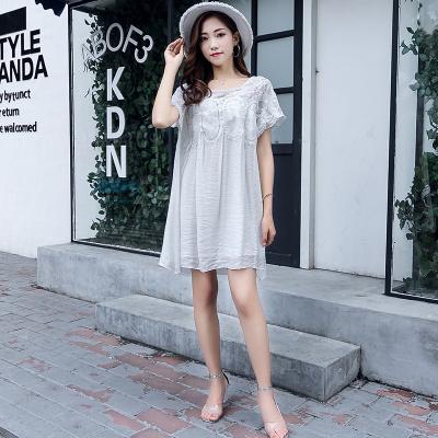 ZQY 丝光麻时尚连衣裙 (7050)