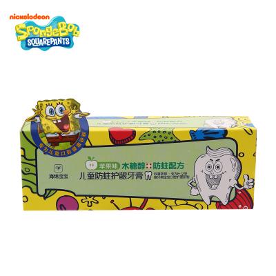 海绵宝宝 儿童防蛀护龈牙膏(苹果味)50g ETYG0801