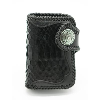 革言 欧洲复古手织鳄鱼纹钱包 GY-1802-06 亮光