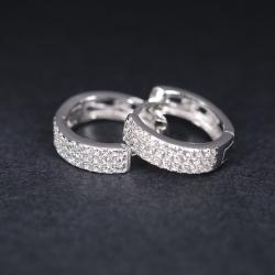 亿钻珠宝 镶石耳环 EDW8565
