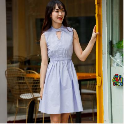 【秒杀】BLISS VALLY 挂脖清新蓬蓬连衣裙 SMX1114