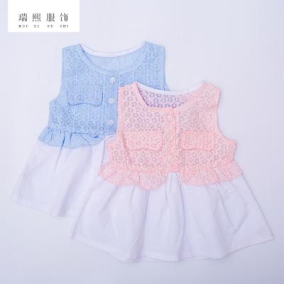 2018夏季新款蕾丝连衣裙 婴幼儿童装女童蓬蓬裙 童装连衣裙可代销