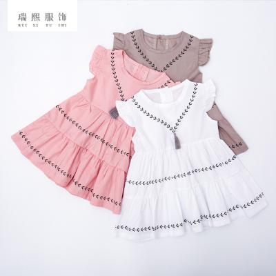 极简韩式公主裙一件代销 婴幼童女童连衣裙 夏季清新印花公主裙童