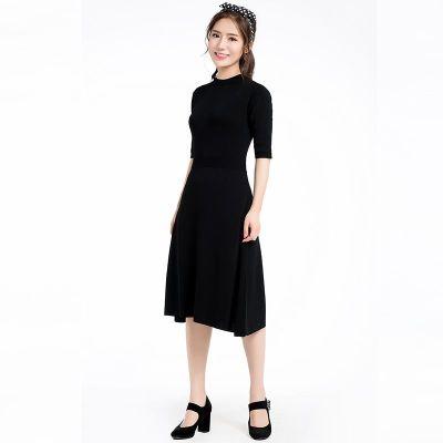 【限时秒杀】圆领短袖针织连衣裙(Y&M18SSOP007)