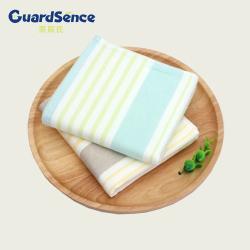 家辰氏030纯棉方巾日本双面横条布艺 两条组合装