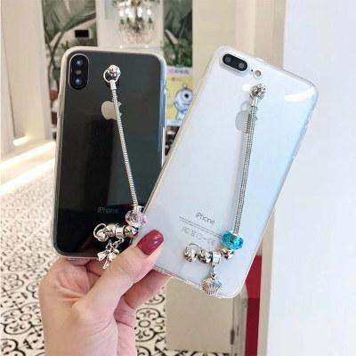 千隆 潘多拉手链装饰创意趣味合金手链iPhoneX 8plus苹果6S 7透明X20手机壳R15软套A59