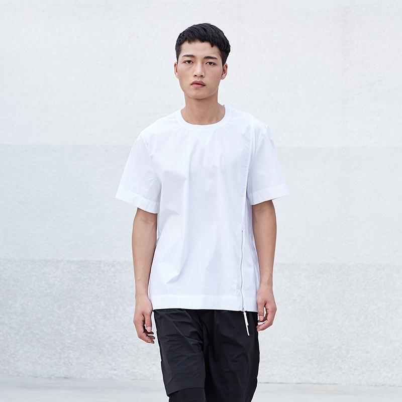 简约宽松男装圆领短袖T恤S8X104...