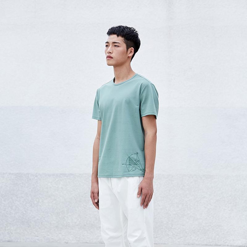 简约男装圆领短袖T恤S8X10437...