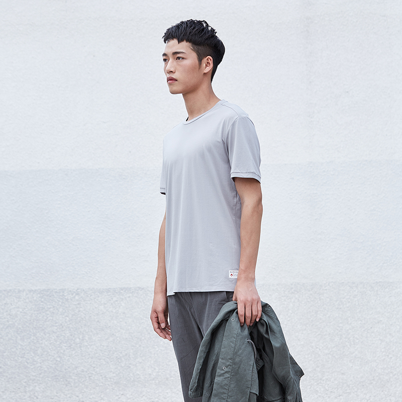 简约男装圆领短袖T恤S8X10445...