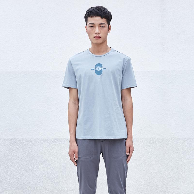 简约男装圆领短袖T恤S8X10456...