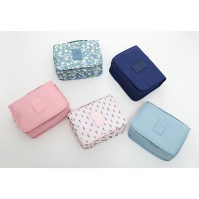 韩版 悬挂式 花色 洗漱包 可折叠 旅行 收纳 化妆包 hzb009