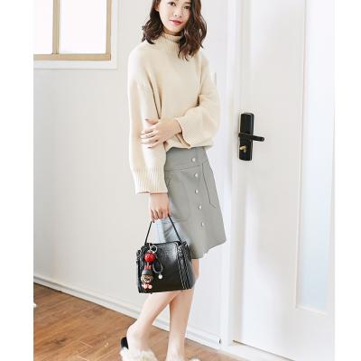 米尔 包包女2018春夏新款潮韩版时尚单肩包百搭斜挎小包包迷你手提包