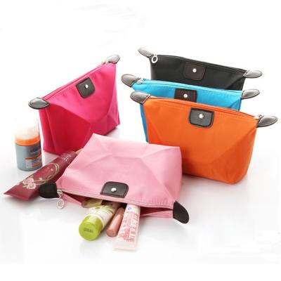 韩版可爱饺子化妆包糖果色折叠水饺收纳包元宝型防水洗漱袋 bag080