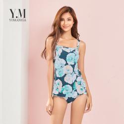 YOMANIGA 印花吊带性感沙滩假两件泳衣 SW18011