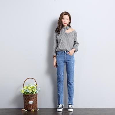 依赖 2018最新时尚修身气质九分牛仔裤 204