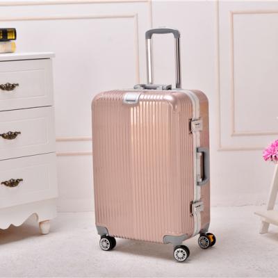 傲世箱包 铝框款PC凹槽款包角旅行箱拉杆箱 款号:006