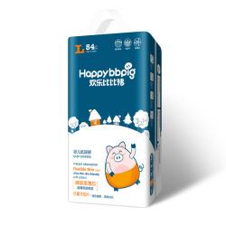 欢乐比比猪乐动柔薄系列 婴儿纸尿裤L码