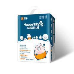 欢乐比比猪乐动柔薄系列 婴儿纸尿裤S码