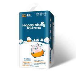 欢乐比比猪乐动柔薄系列 婴儿纸尿裤XL码