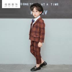 春秋款童装西装 套装男三件套 小西服韩版中小童长袖童装 可批发