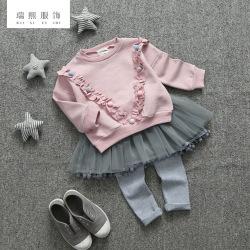 童装春秋款时尚蓬蓬裙套装 女童纯棉两件套 女童套装 厂家直销